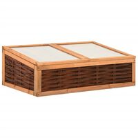 vidaXL Skleník 120x80x45 cm masívne borovicové drevo a vŕba