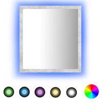 vidaXL Kúpeľňové LED zrkadlo betónovosivé 40x8,5x37 cm drevotrieska