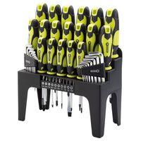 Draper Tools 44-dielna sada skrutkovačov, šesťhranných kľúčov a bitov zelená