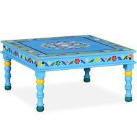 vidaXL Ručne maľovaný konferenčný stolík z mangového dreva, tyrkysový