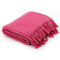 vidaXL Deka, bavlnená, štvorčeky 220x250 cm, ružová