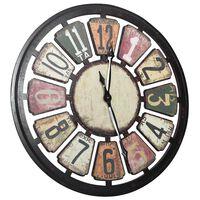 vidaXL Nástenné hodiny viacfarebné 80 cm MDF