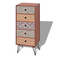 vidaXL Príručná skrinka, 5 zásuviek, hnedá