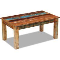 vidaXL Konferenčný stolík, recyklovaný masív 100x60x45 cm
