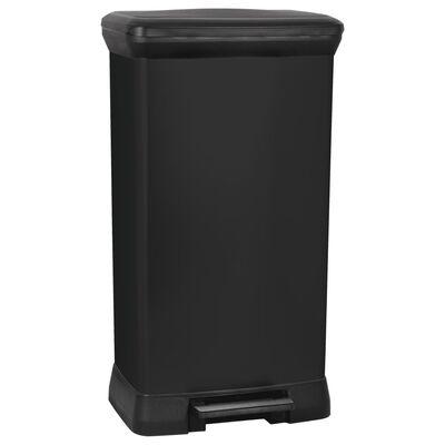 Curver Odpadkový kôš s pedálom Deco, obdĺžnikový 50 l,metalická čierna