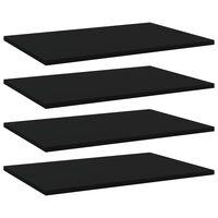 vidaXL Prídavné police 4 ks, čierne 60x40x1,5 cm, drevotrieska