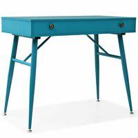vidaXL Písací stôl so zásuvkou, 90x50x76,5 cm, starožitná zelená
