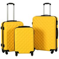 vidaXL Súprava 3 cestovných kufrov s tvrdým krytom žltá ABS