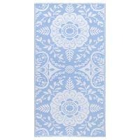 vidaXL Vonkajší koberec detský modrý 80x150 cm PP