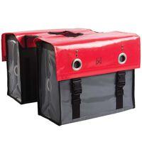Willex Cyklotaška, tarpaulin 52 l, červená a tmavosivá