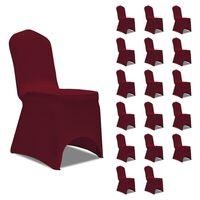 vidaXL Návleky na stoličku burgundy 18 ks naťahovacie