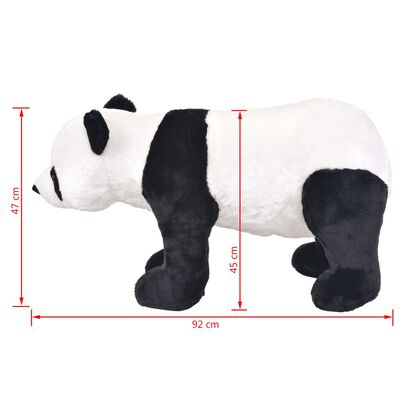 vidaXL Stojaca plyšová hračka panda čierno-biela XXL
