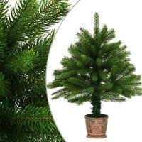 vidaXL Umelý vianočný stromček s realistickým ihličím zelený 65 cm