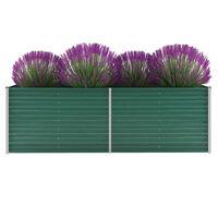 vidaXL Vyvýšený záhradný záhon, pozinkovaná oceľ 240x80x77 cm, zelený