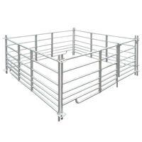 Ohrada pre ovce, 4 panely z pozinkovanej ocele 183 x 183 x 92 cm