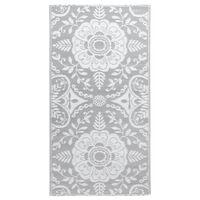 vidaXL Vonkajší koberec bledosivý 120x180 cm PP