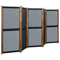 vidaXL 5-panelový paraván čierny 350x170 cm