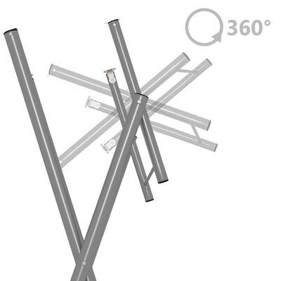 vidaXL Skladací barový stôl 60x113 cm oceľ a prírodné borovicové drevo