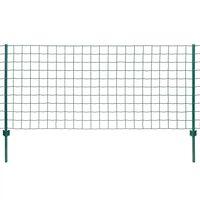 vidaXL Euro plot, oceľ 20x1 m, zelený