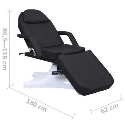 vidaXL Masážny stôl, čierny 180x62x(86,5-118) cm