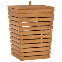vidaXL Kôš na bielizeň 30x30x45 cm masívne teakové drevo
