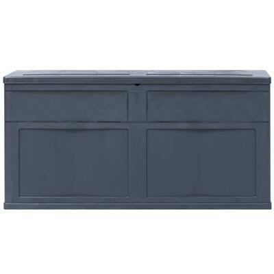 vidaXL Záhradný úložný box čierny 320 l