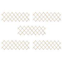 vidaXL Mriežkový plot 5 ks jedľové drevo 180x60 cm