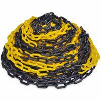 Žlto čierna plastová výstražná reťaz 30 m