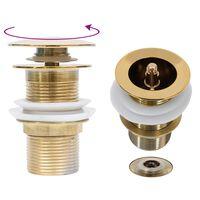 vidaXL Odtok bez funkcie prepadu zlatý 6,4x6,4x9,1 cm