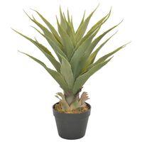 vidaXL Umelá rastlina, juka s kvetináčom, zelená 60 cm
