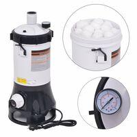 vidaXL Bazénový filter pre bazény Intex a Bestway, 185 W, 4,4 m³/h