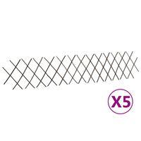 vidaXL Mriežkové ploty z vŕbového prútia 5 ks 180x30 cm