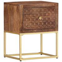 vidaXL Nočný stolík 40x30x50 cm mangovníkový masív