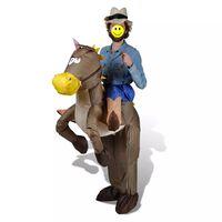 Nafukovací kostým kovboja a koňa