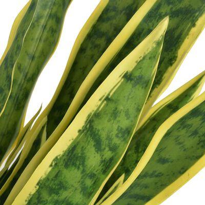 vidaXL Umelá rastlina, sansevieria s kvetináčom 90 cm, zelená