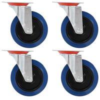 vidaXL Otočné kolieska 4 ks, 125 mm