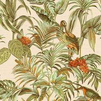 DUTCH WALLCOVERINGS Tapeta Bird-of-Paradise zelená