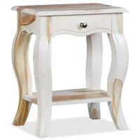 vidaXL Nočný stolík, sheeshamový masív 40x30x50 cm