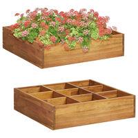 vidaXL Vyvýšený záhradný záhon na bylinky, akáciový masív 60x60x15 cm