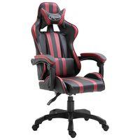 vidaXL Herná stolička, vínovo červená, umelá koža