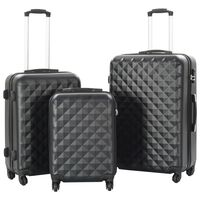 vidaXL Súprava 3 cestovných kufrov s tvrdým krytom čierna ABS
