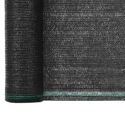 vidaXL Zástena na tenisový kurt, HDPE 1,4x100 m, čierna