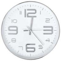 vidaXL Nástenné hodiny 30 cm strieborné