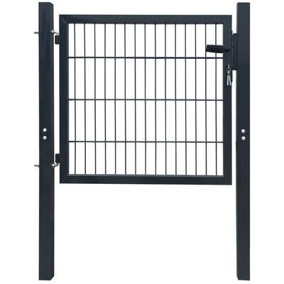 vidaXL Plotová brána, oceľ, antracitová 103x150 cm
