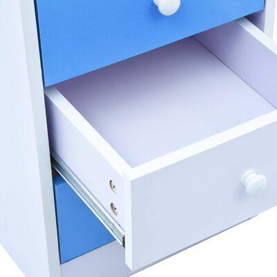 vidaXL Detský stôl na kreslenie sklápací modrý a biely