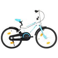 vidaXL Detský bicykel modrý a biely 18 palcový