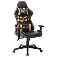 vidaXL Herná stolička čierno-zlatá umelá koža