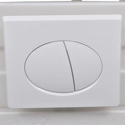 vidaXL Keramické závesné WC so skrytou nádržou, čierne
