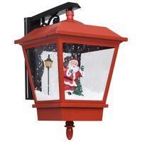 vidaXL Vianočná nástenná lampa s LED svetlami a Santom červené 40x27x45 cm