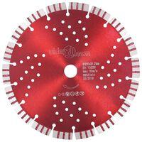 vidaXL Diamantový rezací kotúč s turbom a otvormi oceľový 230 mm